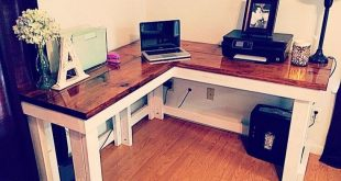 20+ Simple Small DIY Pallet Desk Designs For Home Office