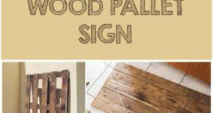 DIY Wood Pallet Sign AND free printable!