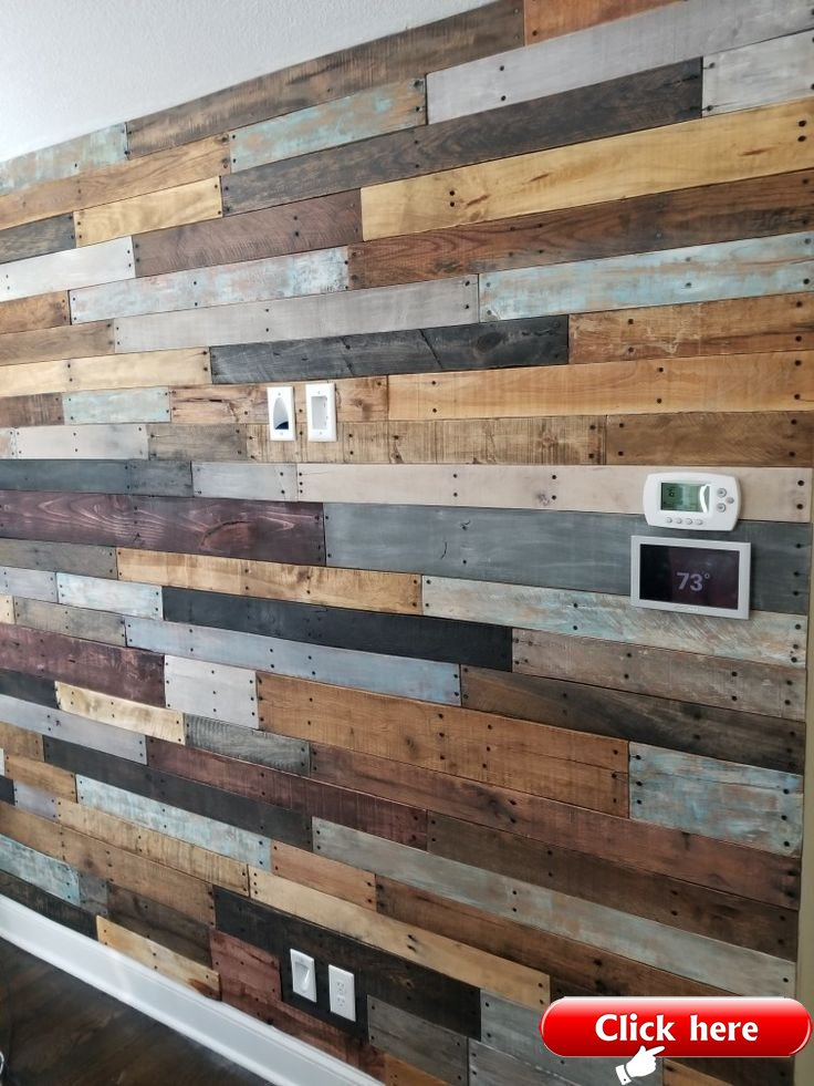 Reclaimed Pallet Wall In My Living Room Less Than A Week And Under 75 Great A Pallet Ideas