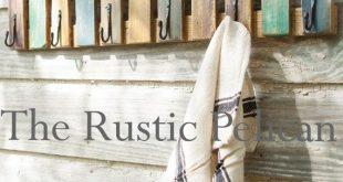 Reclaimed Wood Towel Rack - Beach Decor - Rustic Towel Rack - Nautical - Beach - Painted Wooden Towel Rack - Pool Decor - Farmhouse decor