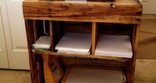 26+ Inspiring Simple Small DIY Pallet Desk Designs for Home Office #homedecor #h...