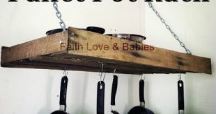 Ana White   Build a DIY Pallet Pot Rack - Feature by Faith Love and Babies   Fre...