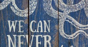 Hand-assembled with a weathered, nautical look, this Pallet Wall Sign will bring...
