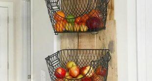 DIY Wall Mounted Fruit & Veggies Holder