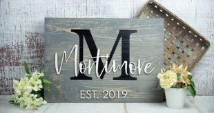 Last Name Sign | Wedding Gift | Family Name Sign | Anniversary Gift | Established Sign | Pallet Sign | Wedding Sign | Monogram Sign