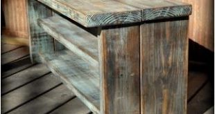 Pallet Furniture Shelves. Produce a personalised and trendy feel in your own hom...