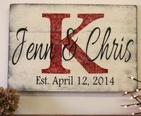 Personalized Name Sign Custom Name Sign Wedding Gift Bridal Shower Gift Wood Pal...