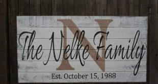 Personalized Name Sign Wood Sign Family Name Sign Wedding Gift Bridal Shower...