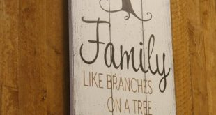 Wood Sign Family Like Branches On A Tree Pallet Sign Family Photo Wall Decor Shabby Chic Wall Decor Rustic Sign Wallhanging Handmade