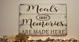 Wood Kitchen Sign Meals And Memories Are Made Here Pallet Sign Dining Room Decor...