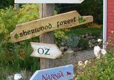 5 märchenhafte Holzschilder für den Garten von AlmaWoods auf DaWanda.com #alma