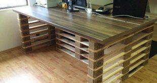 Bureau en bois - 34 idées DIY très cool en palette Europe