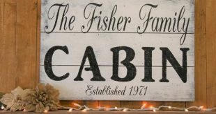Cabin Wood Wall Decor Personalized Name Sign