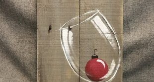 Christmas wine, Pallet wall Art decor, cheers, red Christmas bulb, Christmas decor, reclaimed wood, Distressed wine glass, handpainted