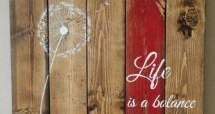 Zurückgefordert Holz Wand-Kunst - Leben ist ein Gleichgewicht der holding - auf...
