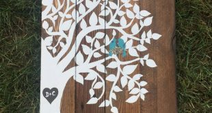 Wooden Recycled pallet Family tree sign, wedding anniversary gift pallet sign, Bird family