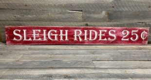 Sleigh Rides Sign - Rustic Winter Sign - Rustic Pallet Wall Art - Front Door Sign - Farmhouse Decor