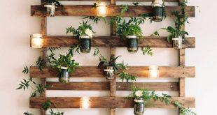 24 zauberhafte Einmachglas Wanddekor-Ideen, um Ihre Wände zu erhellen
