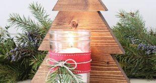 DIY Holz Weihnachtsbaum Einmachglas Wandleuchte #WoodWorking