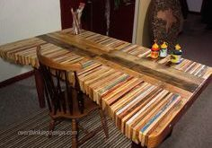 DIY Inspiration: Stacked Wood Pallet Desk