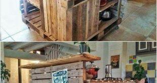 DIY Paletten-Kücheninsel-Tisch