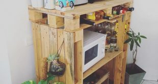 DIY industrial kitchen furniture made with wooden pallets . . . #palette #palett...