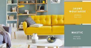 Deklination um den gelben Senf für eine warme und sonnige Dekoration