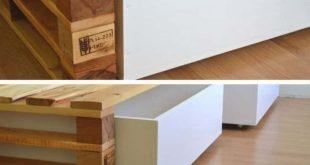 Einfaches Palettenbett #einfaches #palettenbett