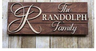Family Name Sign, Pallet Sign, Custom Wood Sign, Monogram letter Sign, Personalized Wedding Gift, La