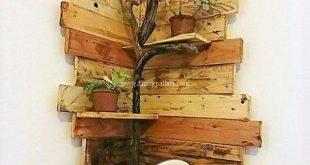 Fancy Wooden Pallets Corner Shelf Ideas – source fancypallets.com
