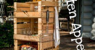 Grill-Beistelltisch aus Holzkisten bauen