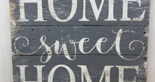 Home Sweet Home Wood Sign - Rustic Pallet Wall Art - Wooden Home Sign - Housewarming Gift - New Home