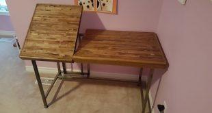 Impressive Wooden Pallet Desk Project