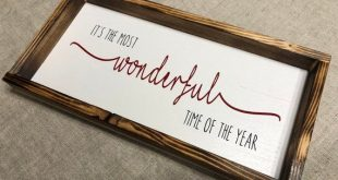 It's the Most Wonderful Time of the Year | Christmas Sign | Rustic Wood Sign