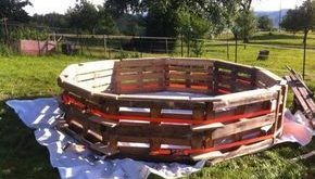 Make your own pool with pallets