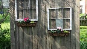Mein altes Holz aus Holz und die Fenster aus dem Müll der Nachbarn machten eine… #WoodWorking