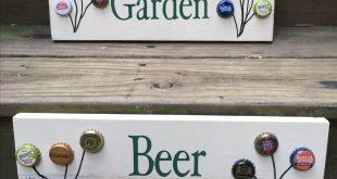 Pallet Sign Bierdeckel Kunst malen die Kappen stattdessen einen Familiennamen sc...