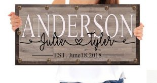 Personalized Wooden Sign, Wood Sign, Last Name Sign, Wedding Gift, Personalized Wedding Gift, Bridal