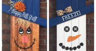 Reversible Scarecrow Snowman, Pallet Snowman, Pallet Scarecrow, Porch Decor, Porch Sign, Seasonal Decoration, Reversible Sign, Police Sign