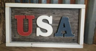 USA pallet sign | Patriotic Wood Sign | Handcut red white blue | America | Independence Day | Memorial Day | Veteran's Day