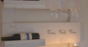 Wine rack scaffolding wood whitewash
