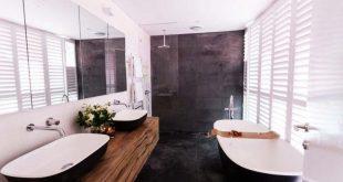 dark bathroom trend #smallbathroom